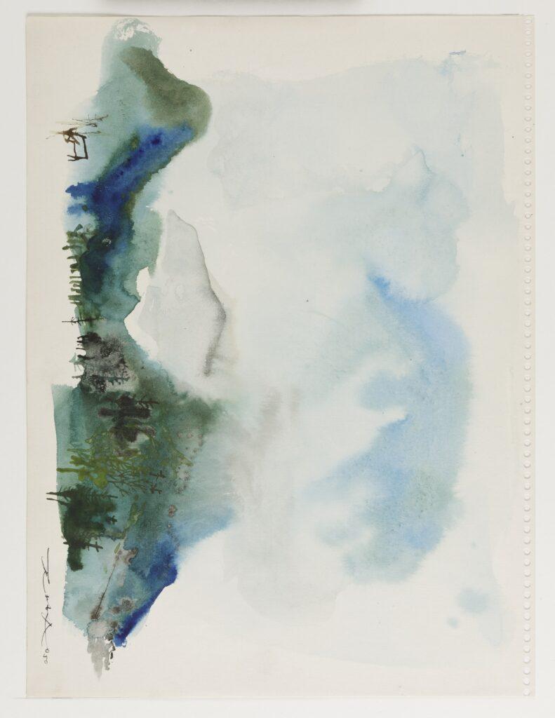 Feuille du carnet peint à Saint-Jeoire-en-Faucigny, 1950
