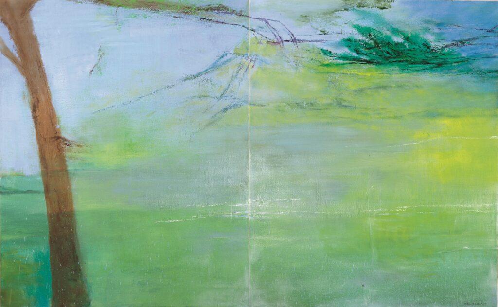 Hommage à Cézanne, Zao Wou-Ki, 2005