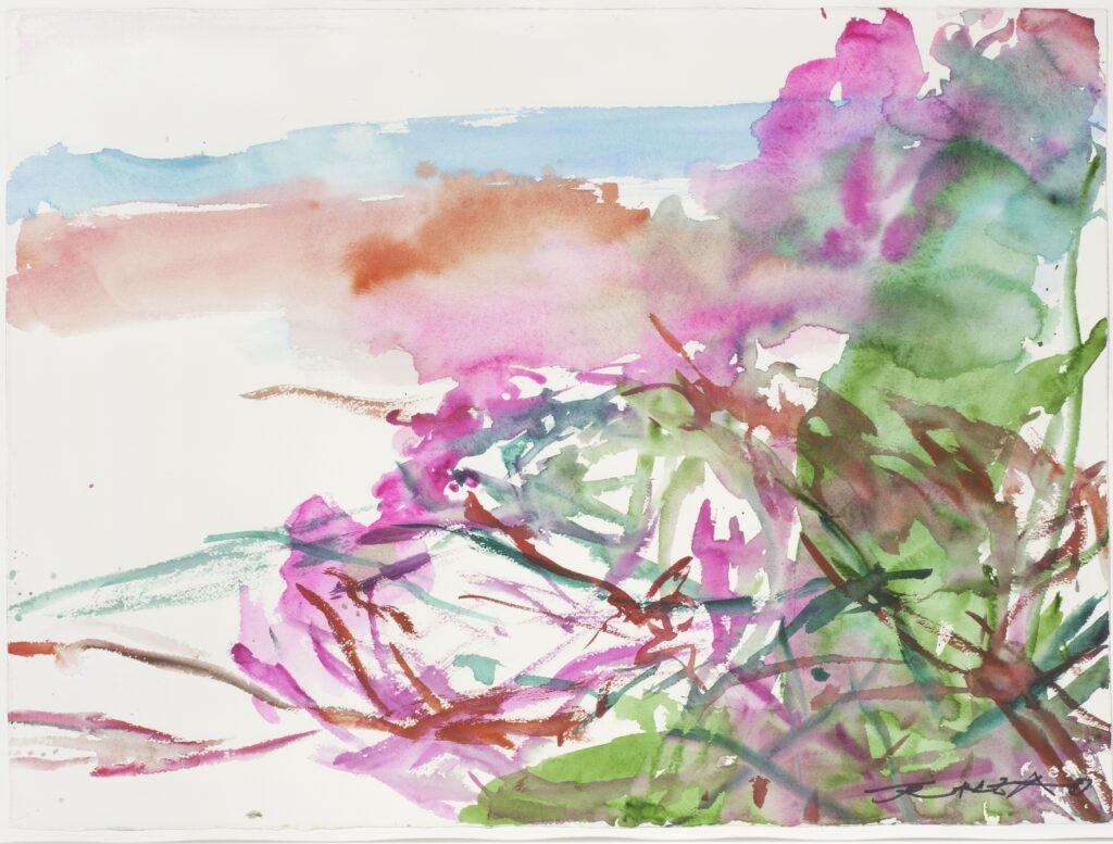 Sans titre (La Cavalierie), 2008Zao Wou-Ki,