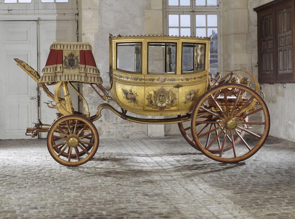 """Jean-Ernerst-Auguste Getting (carrosier) Berline du cortège du mariage de Napoléon Ier dite """"la victoire"""""""