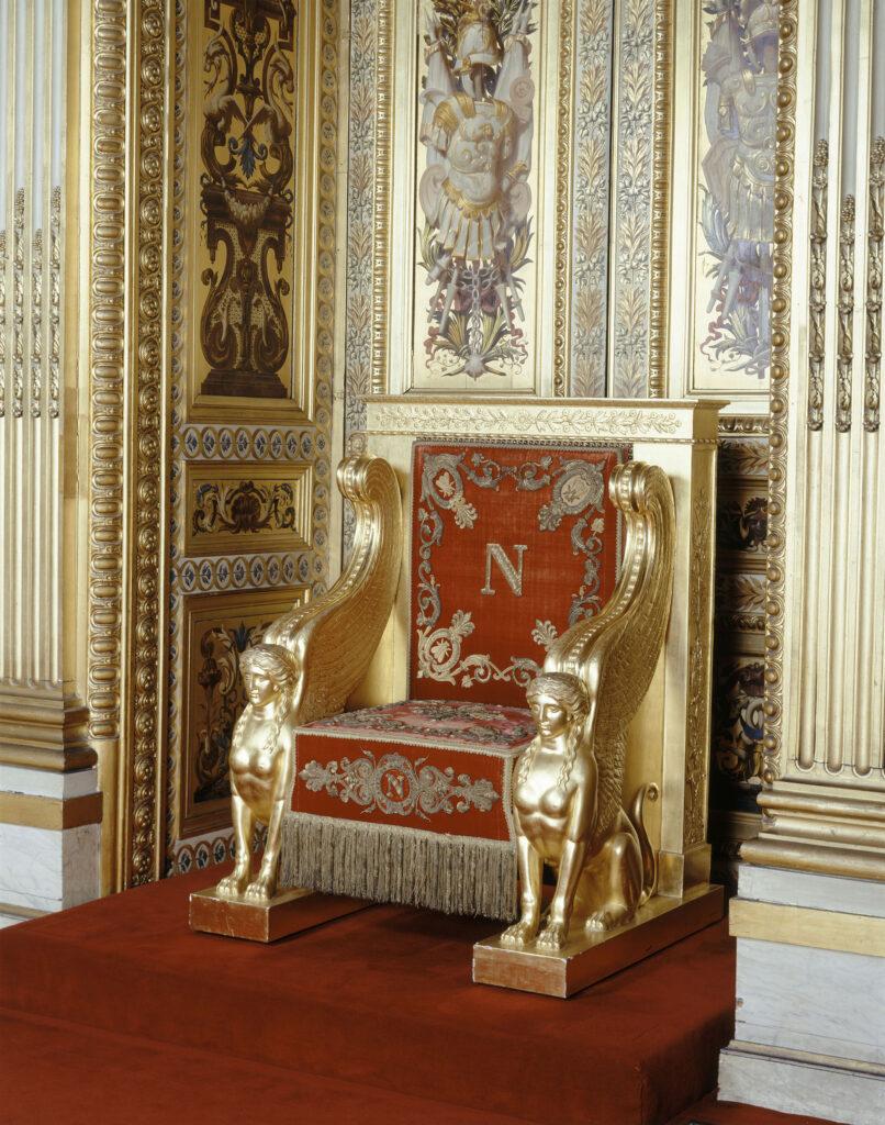 Trône de l'Empereur Napoléon Ier Bonaparte