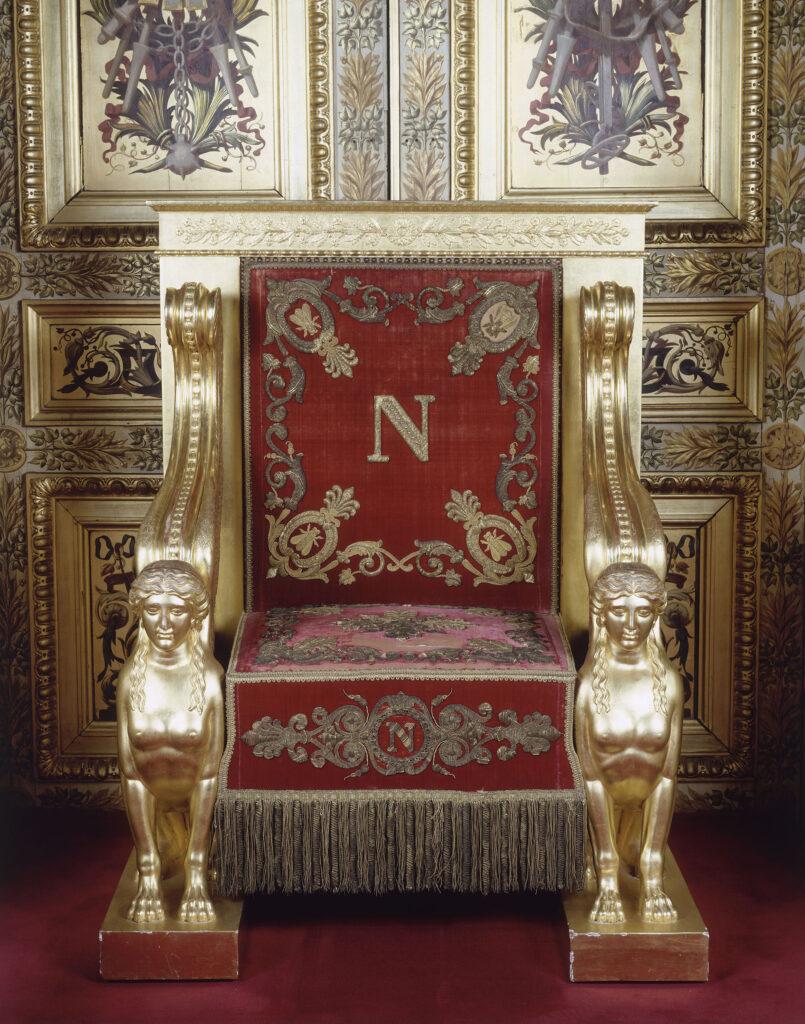 Trône de l'Empereur Napoléon 1er Bonaparte