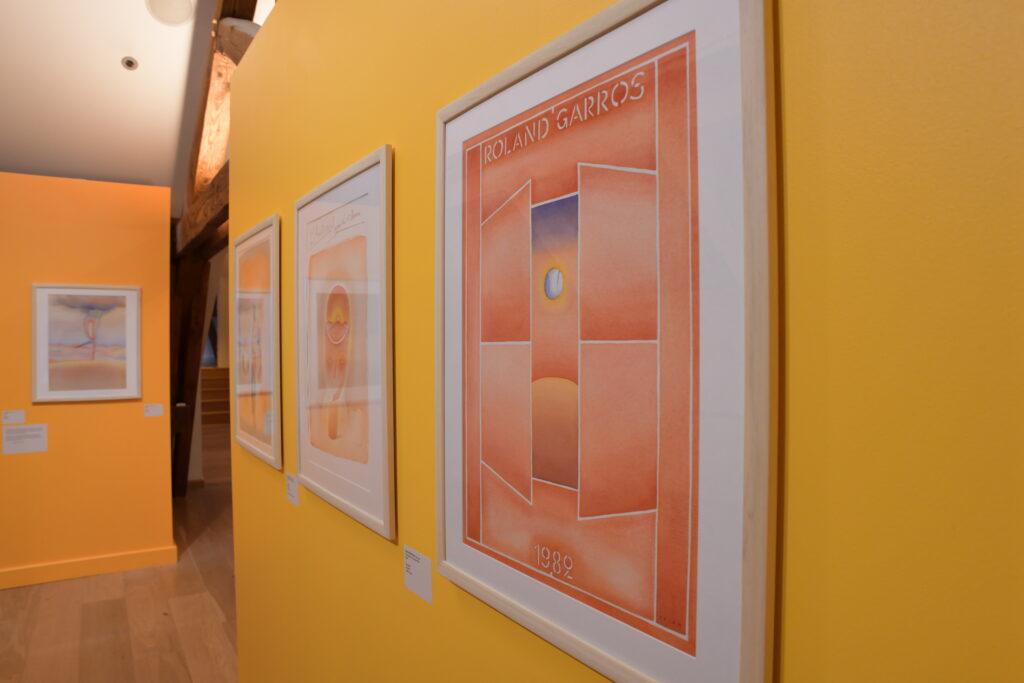 Vue de l'exposition Les affiches de Folon