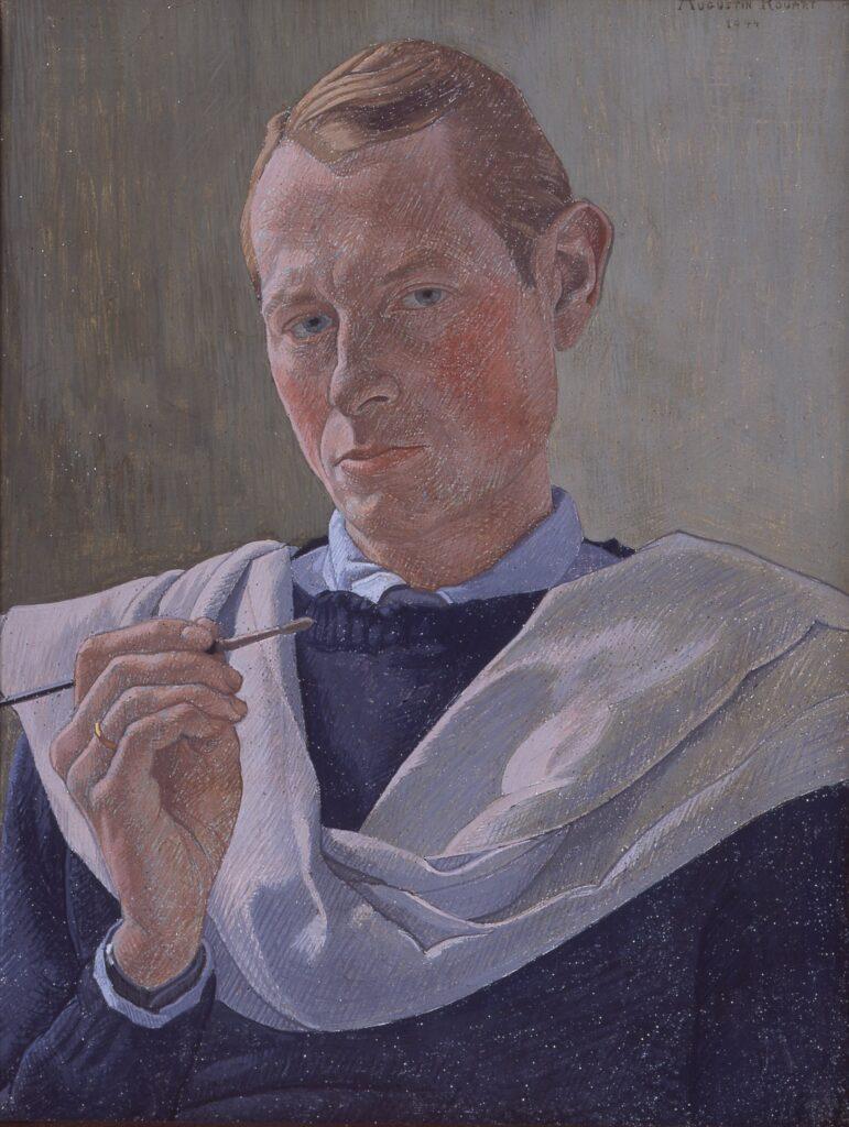Augustin Rouart, Autoportrait au pinceau (1944)