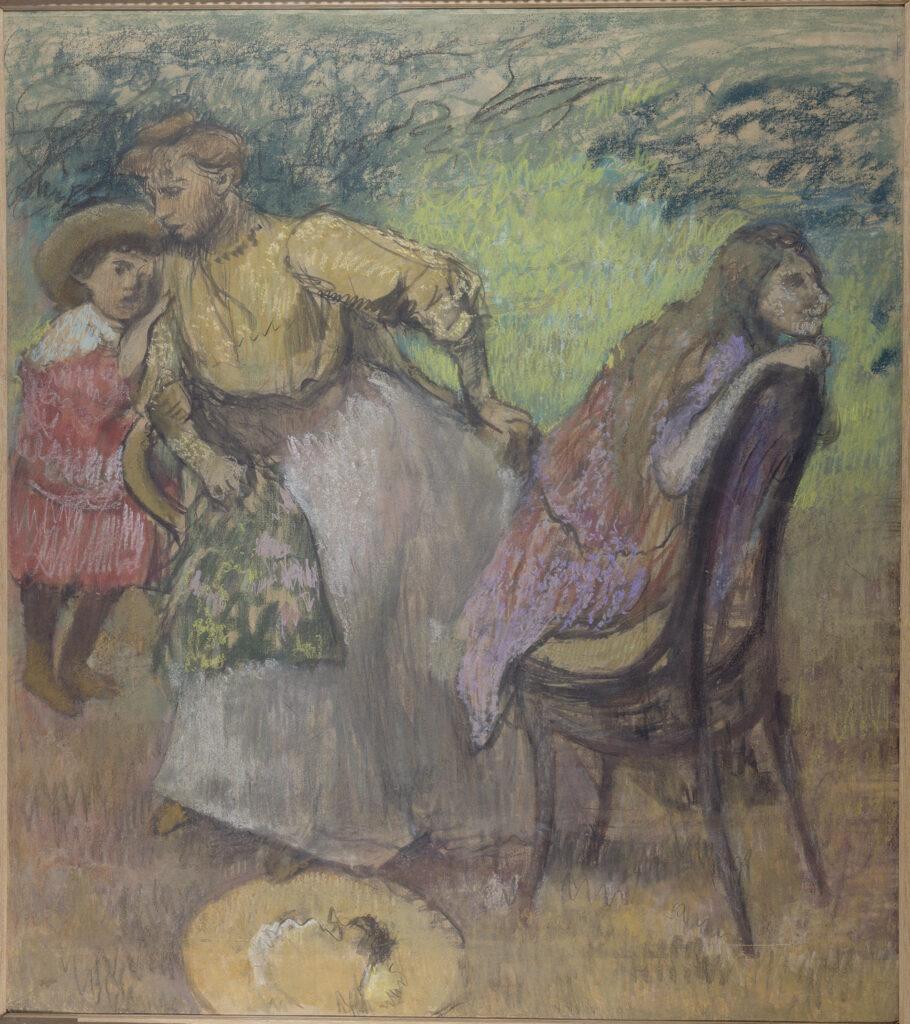 Edgar Degas, Madame Alexis Rouart et ses enfants (1905)