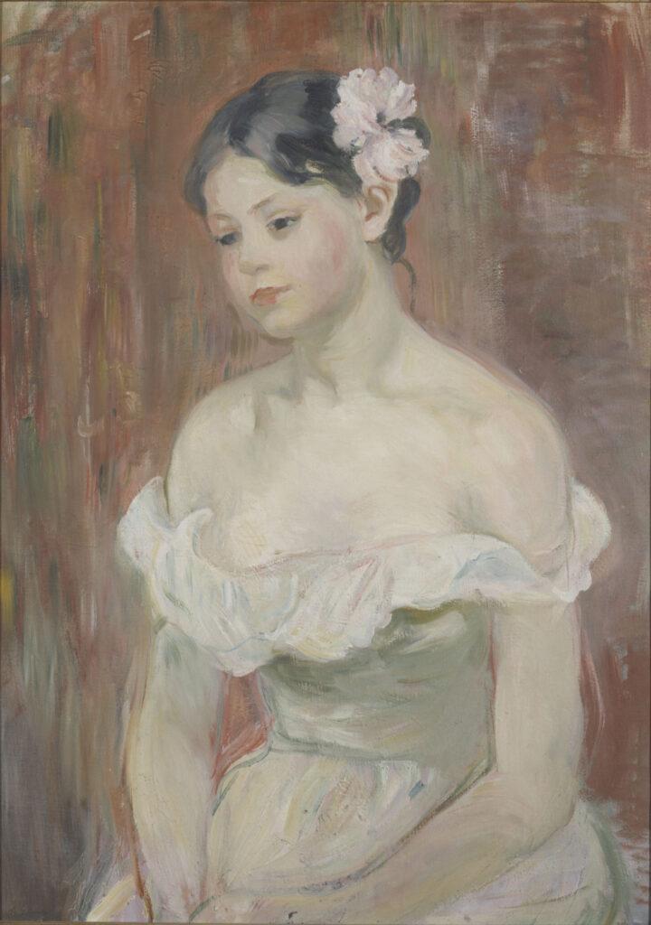 Berthe Morisot, La fleur aux cheveux (1893)