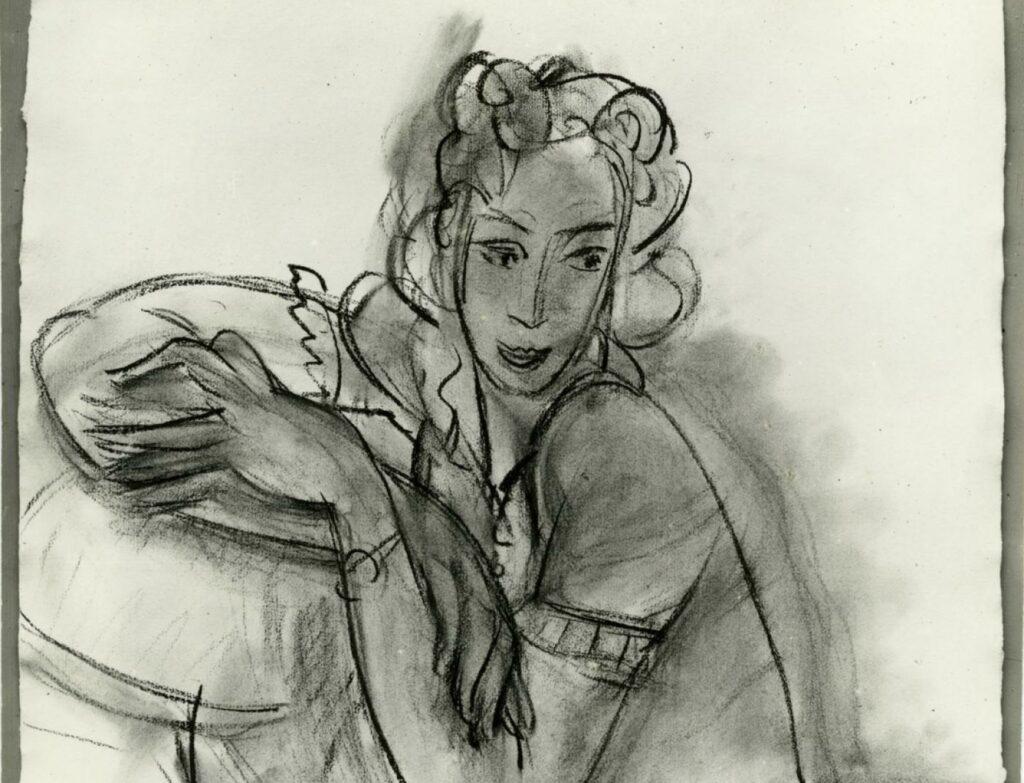 Henri Matisse, Hélène Mercier, née Princesse Galitzine, assise, 1938