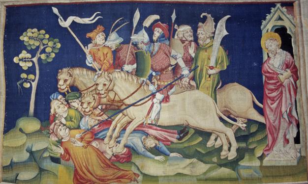 Les myriades de cavaliers, envers de la pièce 2, scène 26 de la Tenture de l'Apocalypse