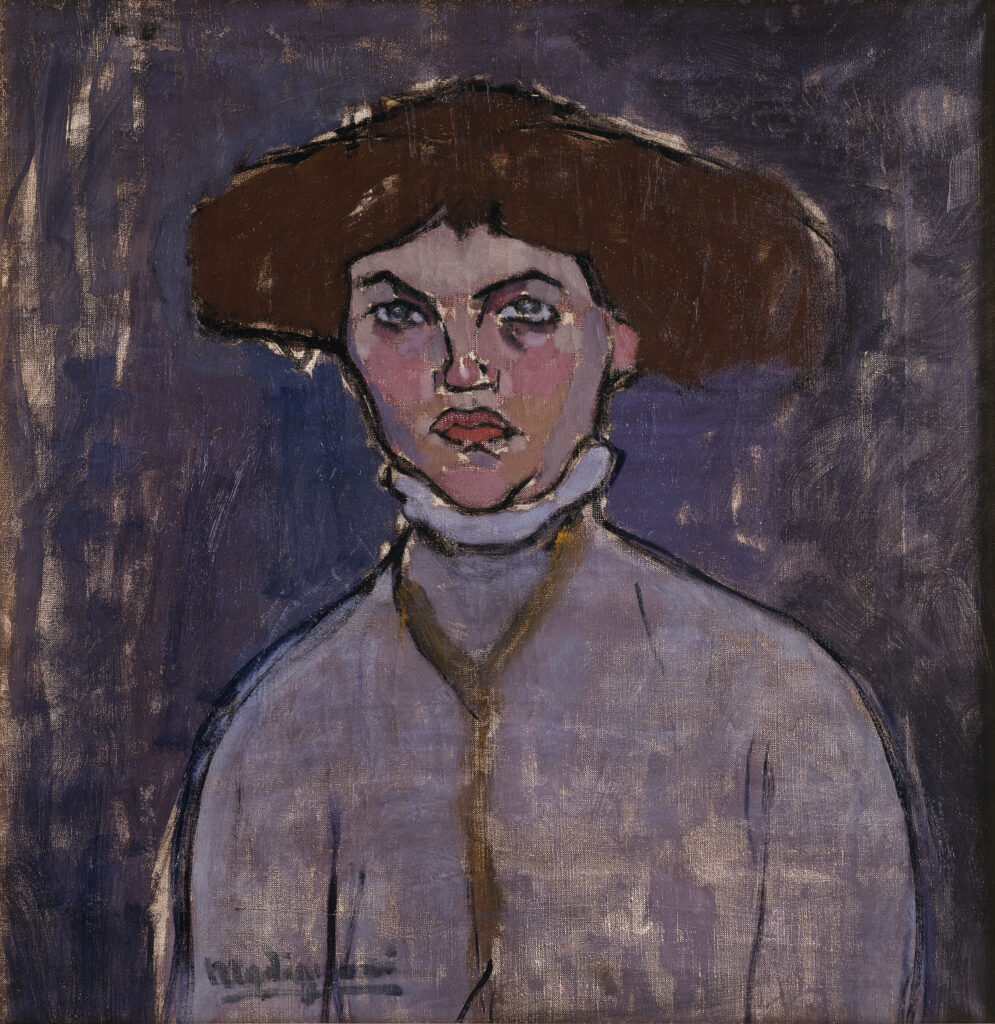 Amadeo Modigliani, Buste de jeune femme, 1908
