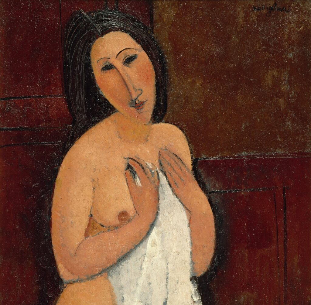 Amadeo Modigliani Nu assis à la chemise, 1917