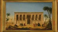 ouverture musée champollion, François-Martin Testard, Les Scientifiques de la campagne d'Égypte devant le temple de Dendera, 1819