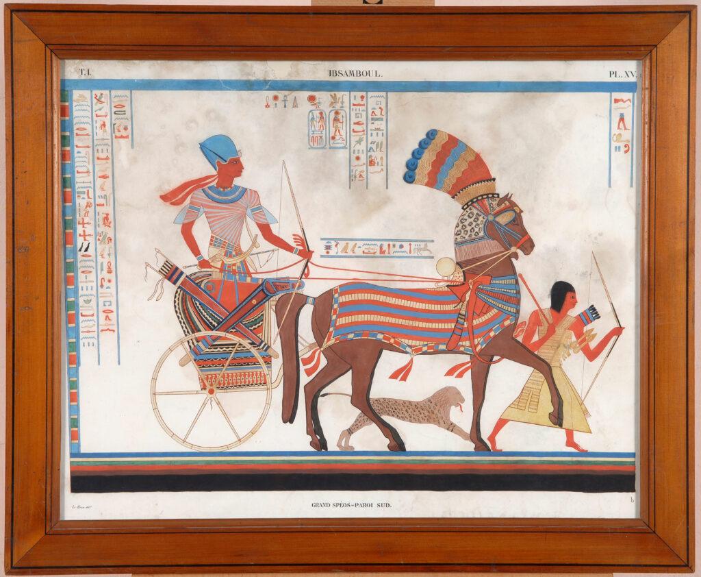 Le Houx, Ramsès II sur son char, début du XIXe