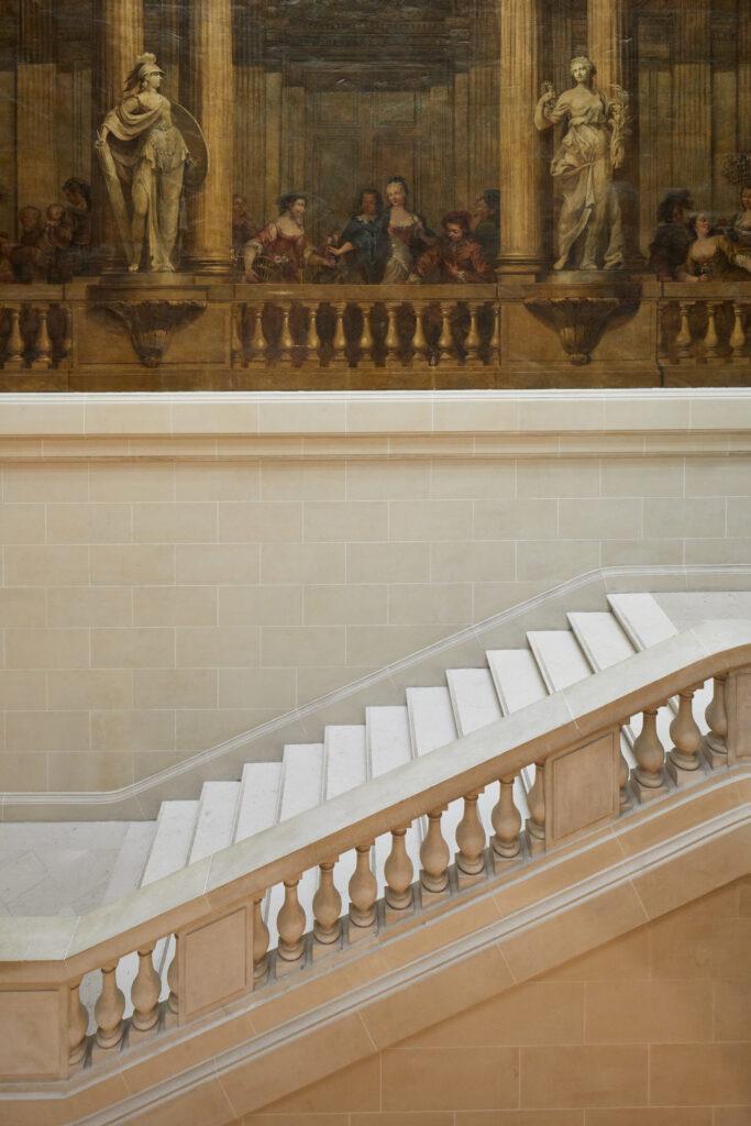 Escalier Luynes restauré