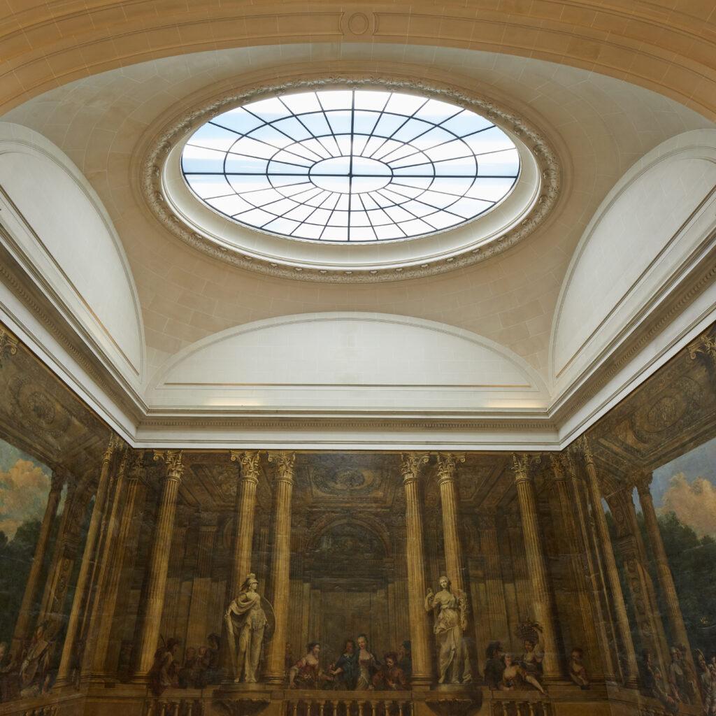 Plafond de l'escalier Luynes restauré