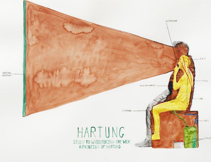 """Abraham Poincheval, """"Hartung"""", 2021"""