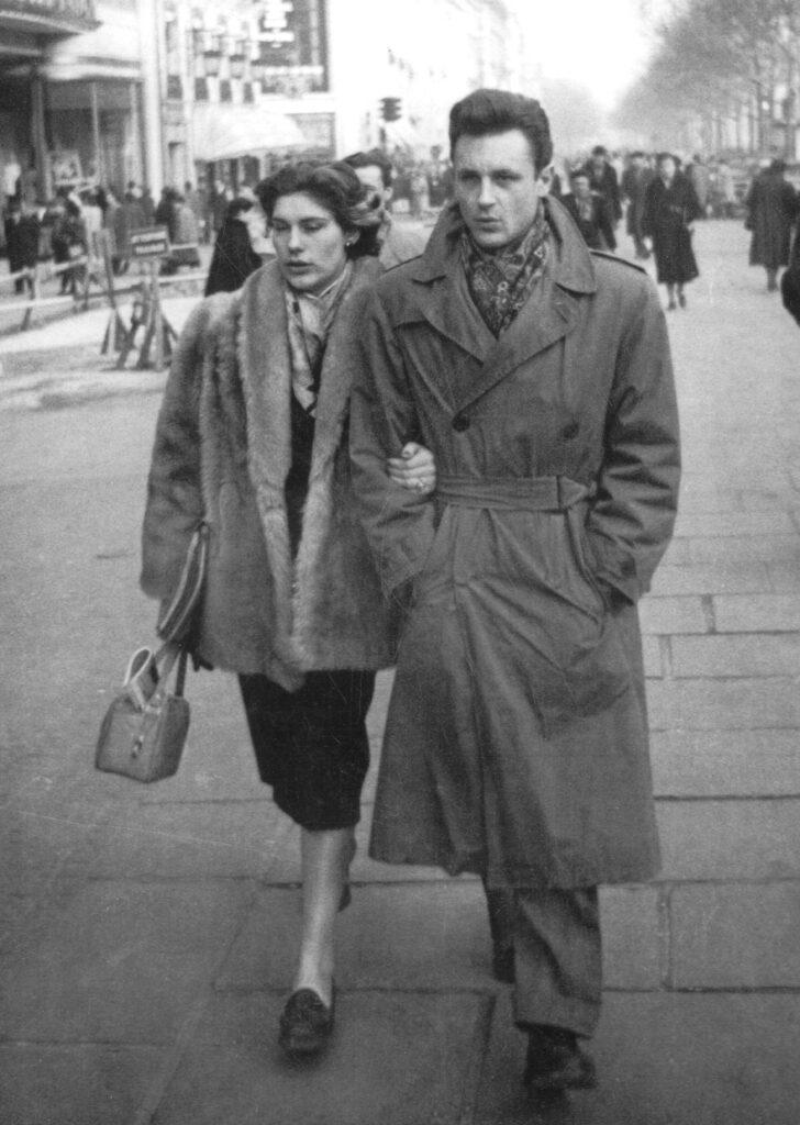 Ada et Albert Uderzo à Paris, 1953