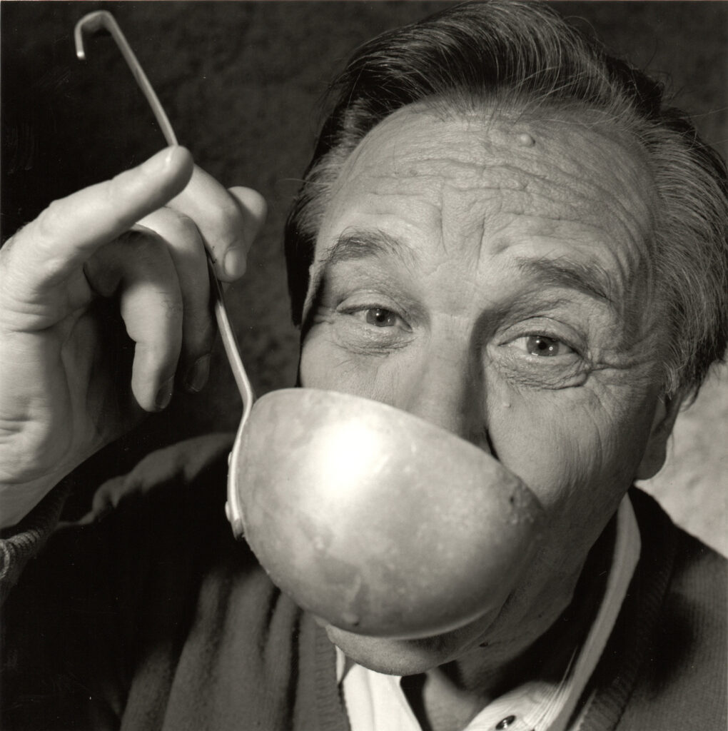 Hervé Bruhat, Albert Uderzo boit de la potion magique, 1996