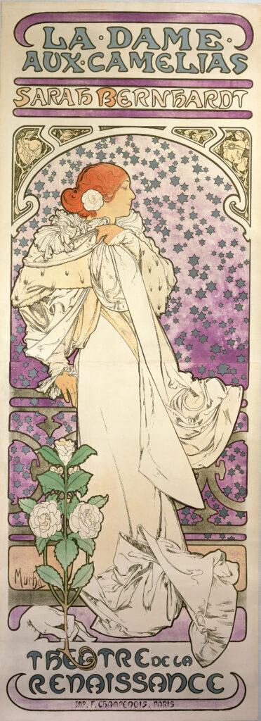 Alphonse Mucha, affiche pour La Dame aux Camélias, 1896