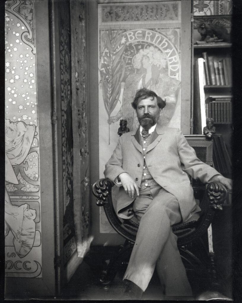 Alphonse Mucha, Autorportrait, vers 1901