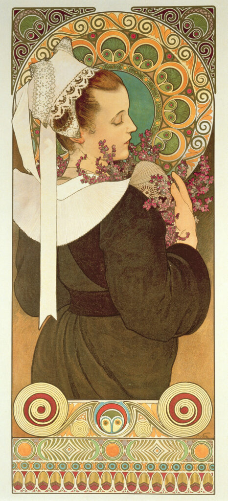 Alphonse Mucha, Bruyere de falaise, 1902