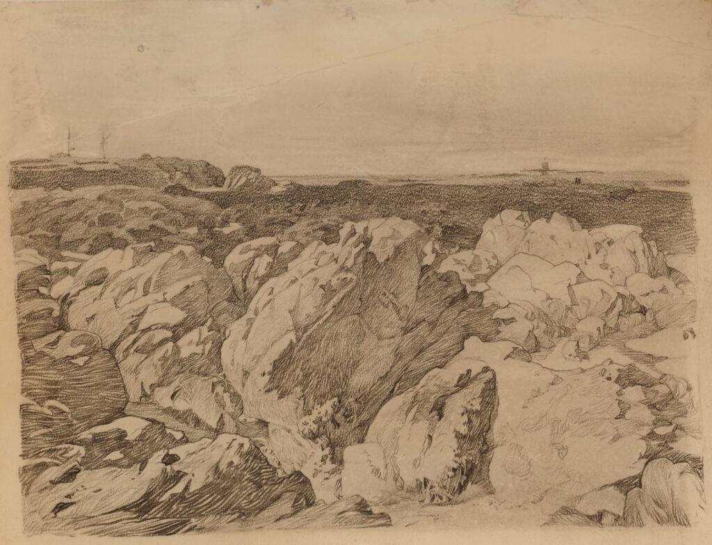 Alphonse Mucha, Paysage côtier, vers 1902-1903