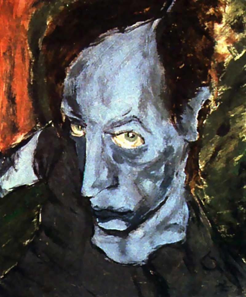David Bowie, portrait of JO, 1976