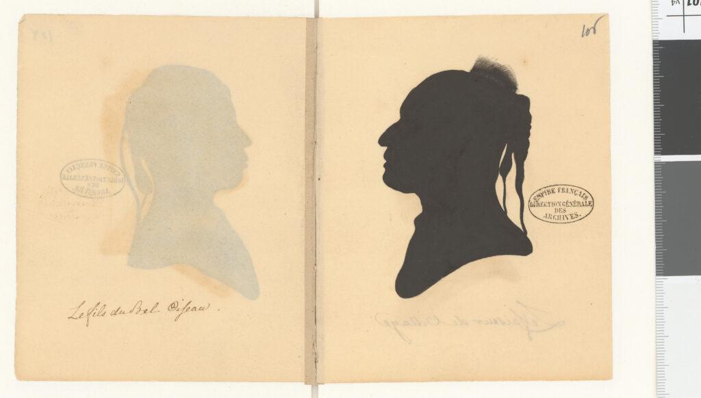 Carnet de silhouettes de chefs de la nation des Osages, 1804