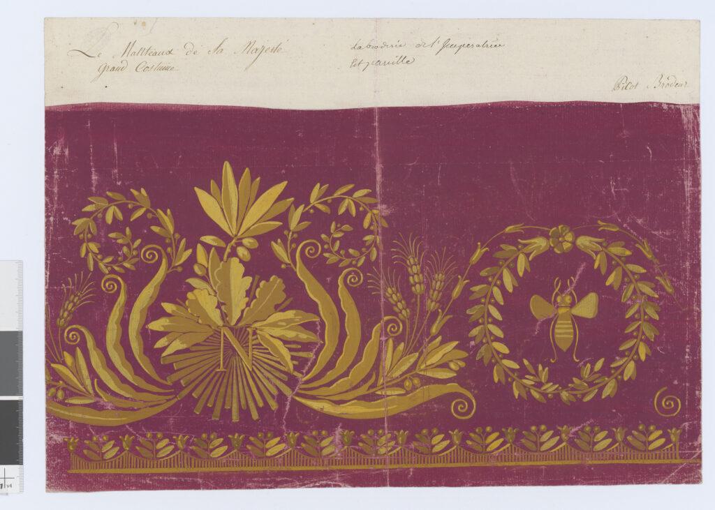 Picot, Modèle de broderie pour le grand costume de l'empereur, 1804
