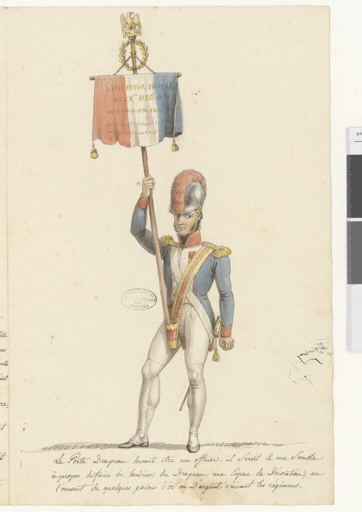 Projet de costume pour le garde-drapeau et pour le porte-étendard (1)