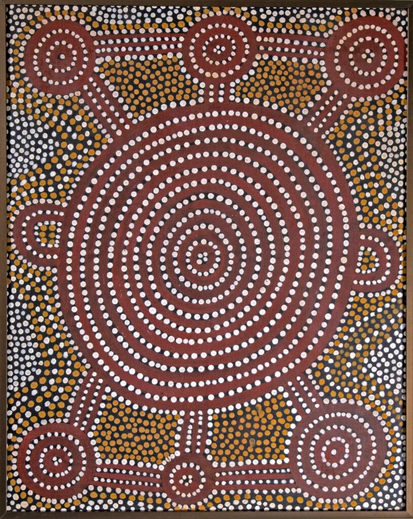 John Tjakamarra, L'origine d'un arbre, 1974