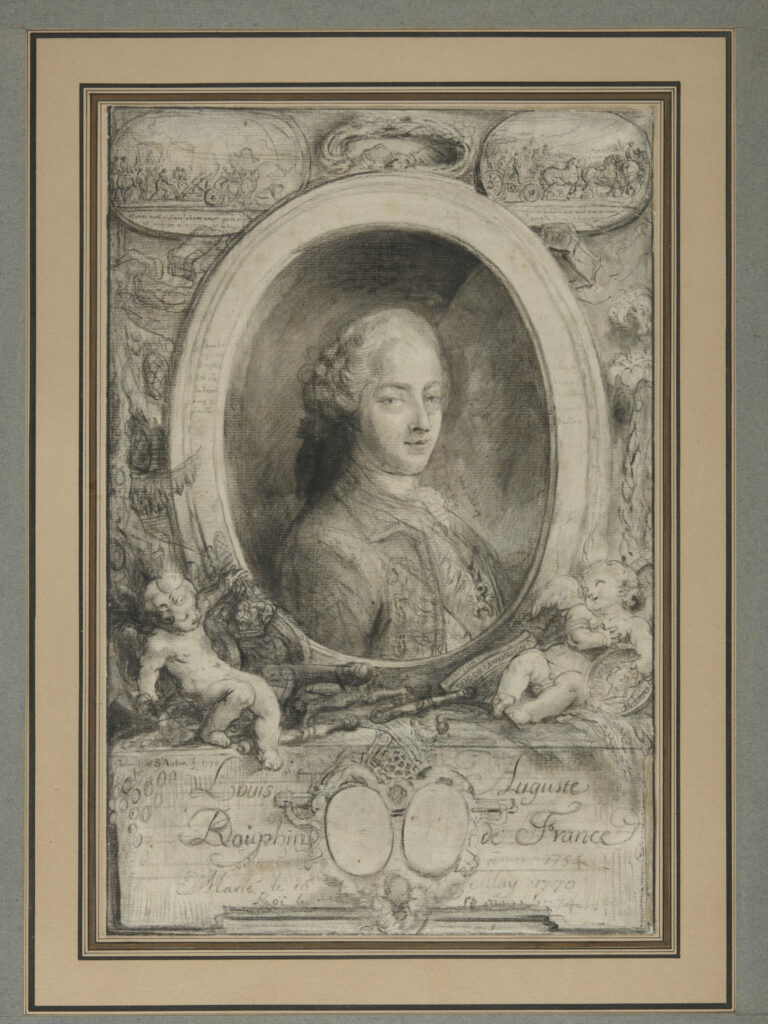 Gabriel-Jacques de Saint-Aubin,Louis-Auguste de France Dauphin, 1770