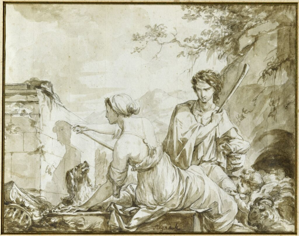Jean-Baptiste baron Regnault, Dibutade ou l'invention de la peinture,1786