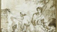 Exposition Dessins pour Versailles au château de Versailles - Jean-Baptiste Baron Regnault, Dibutade ou l'invention de la peinture,1786