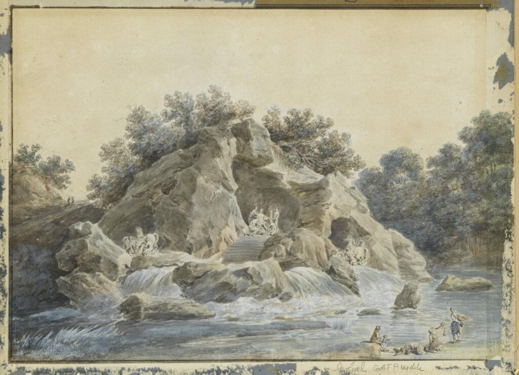 Jean-Francois Heurtier, Projet pour la grotte du bosquet des Bains d'Apollon.
