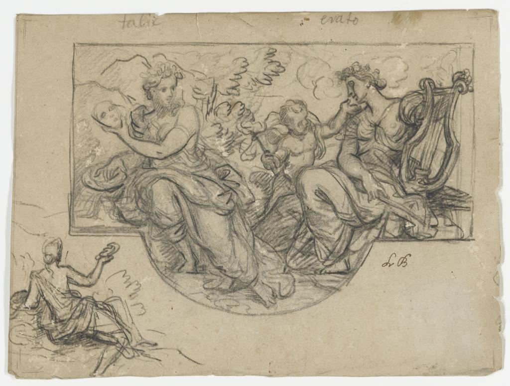 Louis II de Boullogne, Les muses Thalie et Erato, vers 1679