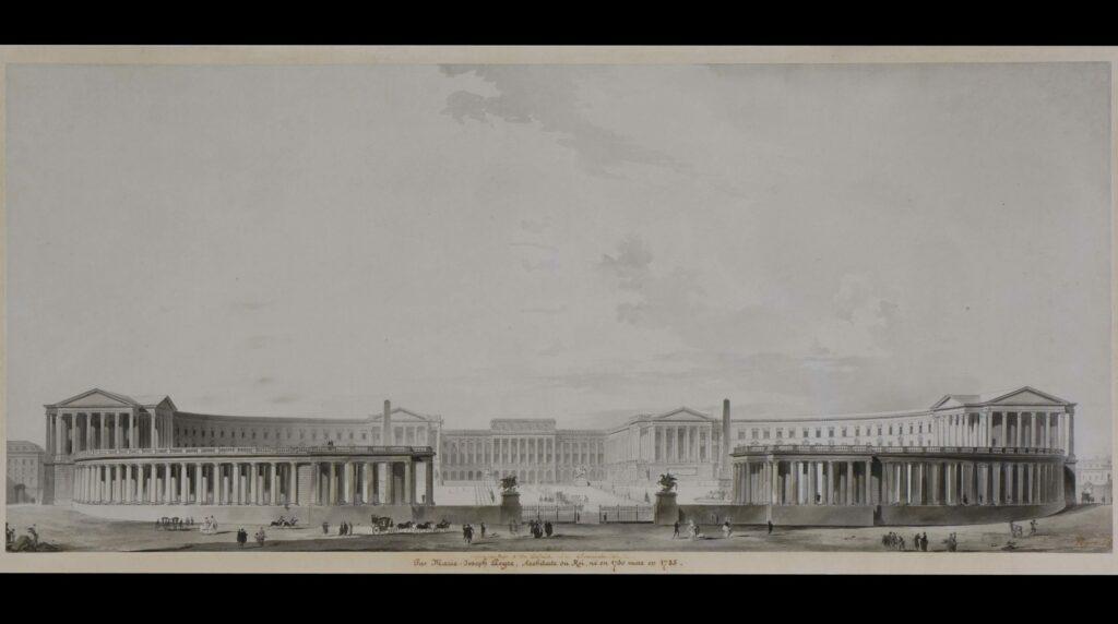 Marie-Joseph Peyre, Versailles entouré d'une colonnade à la façon de Saint-Pierre de Rome