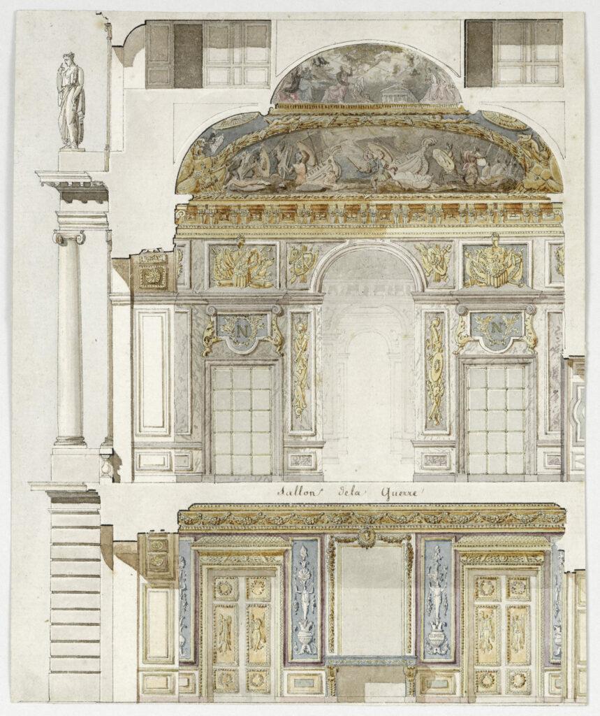 Projet de décors des appartements de l'Empereur et de l'Imperatrice au Château de Versailles