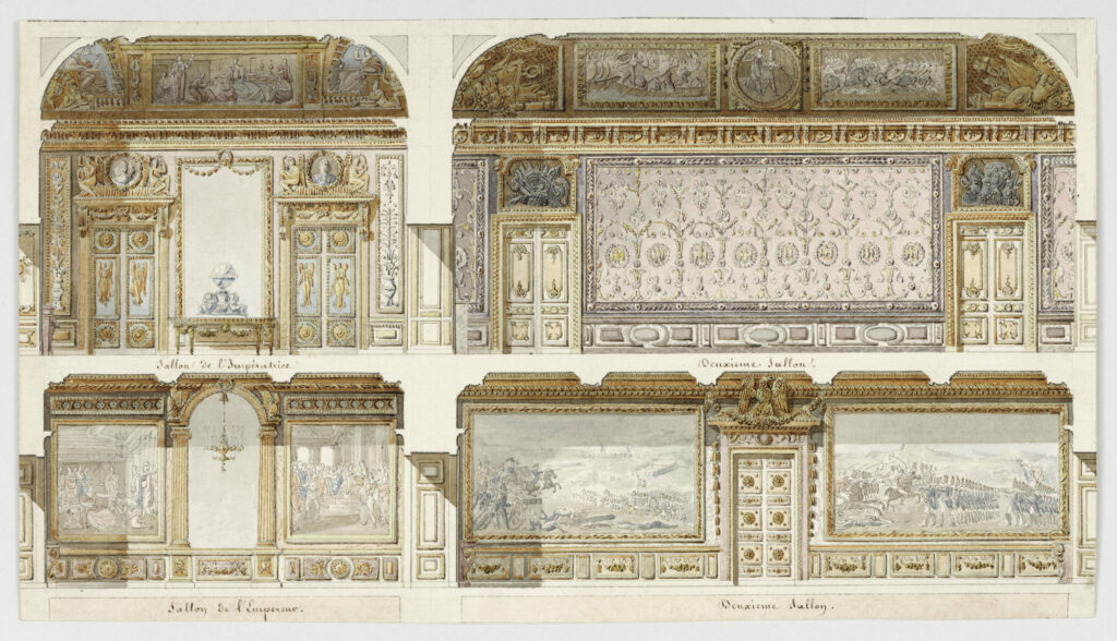Jacques Gondoin, Projet de décors des appartements de l'Empereur et de l'Imperatrice au Château de Versailles