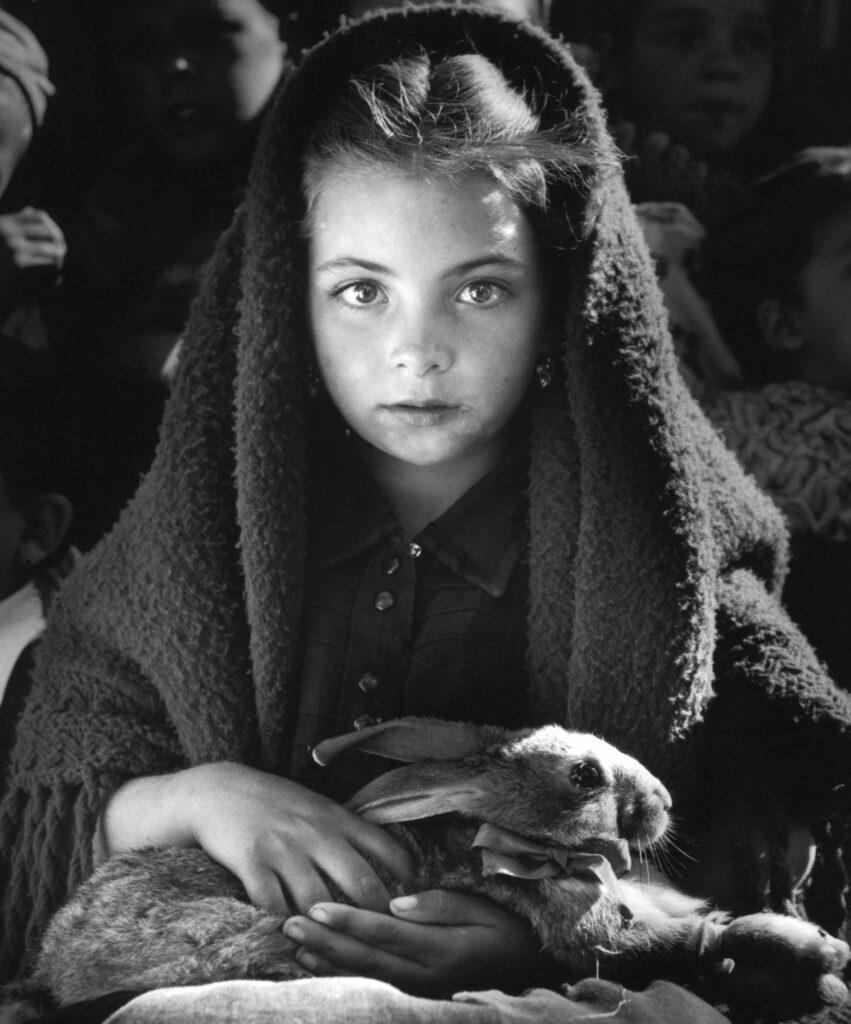 Dieuzaide, La petite fille au lapin, 1954