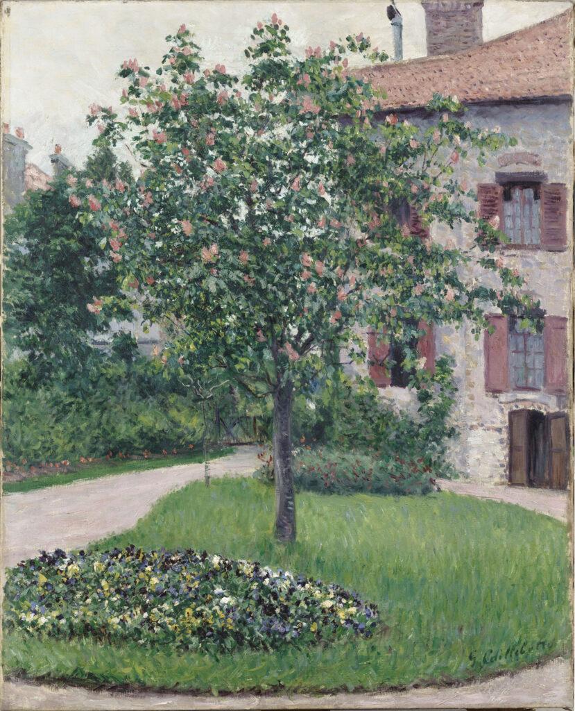 Gustave Caillebotte, Le pommier fleuri /Arbre en fleurs (1882)