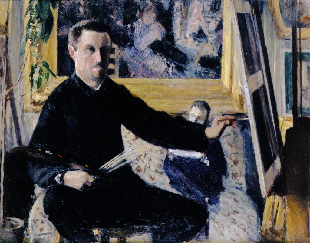 Gustave Caillebotte, Autoportrait au chevalet (1879)