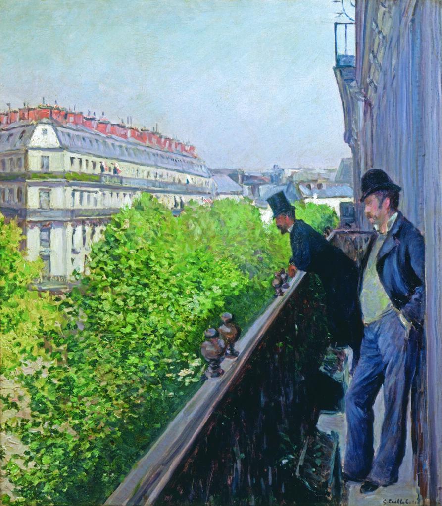 Gustave Caillebotte, Balcon, boulevard Haussmann