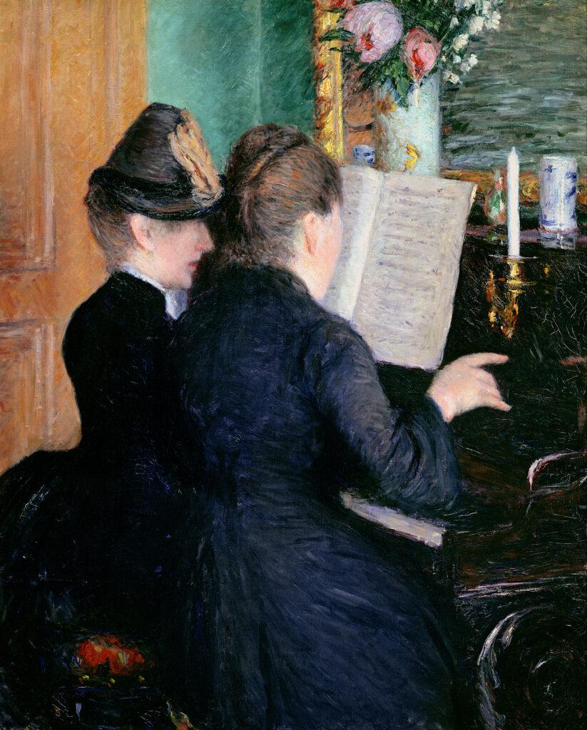 Gustave Caillebotte, La Leçon de Piano (1889)