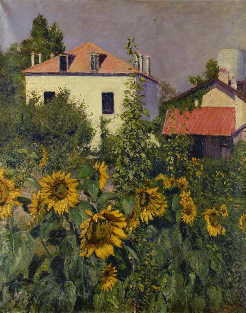 Gustave Caillebotte, Les Soleils, jardin du Petit Gennevilliers (1885)