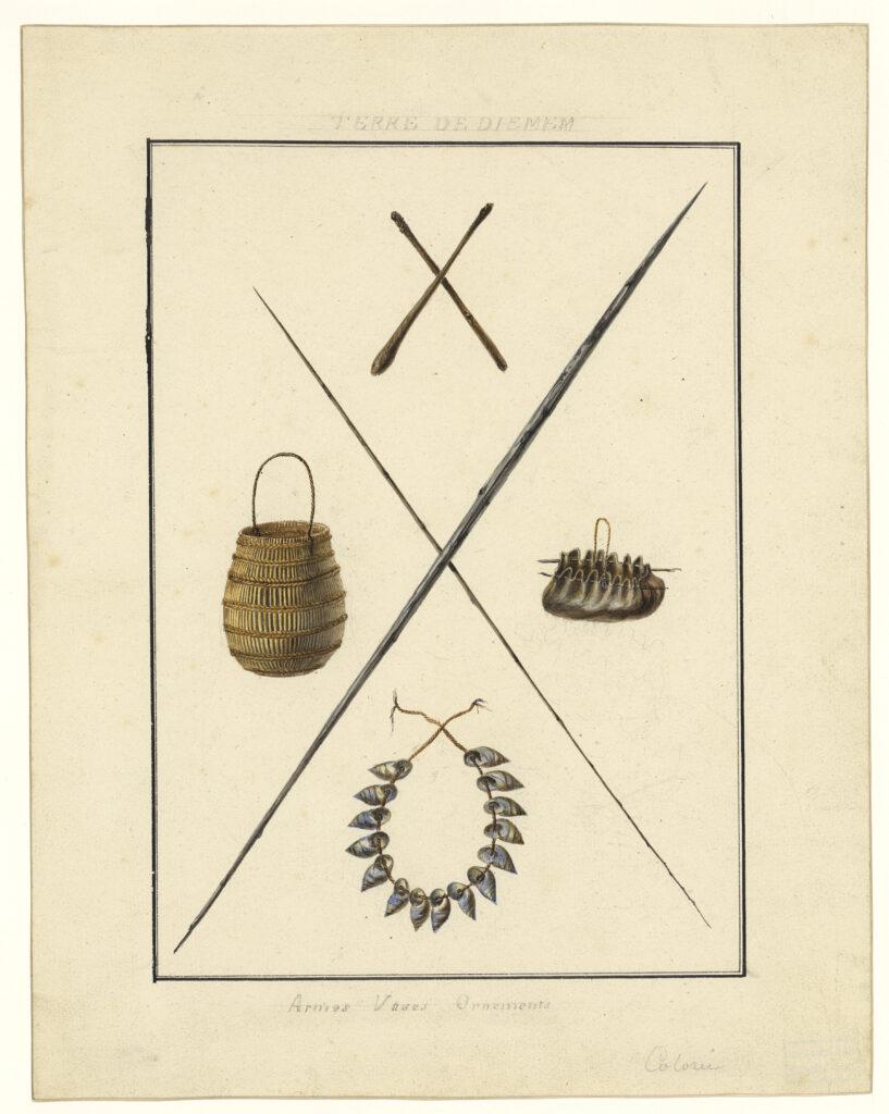 Terre de Diemen - Armes, vases, ornements, Charles-Alexandre Lesueur