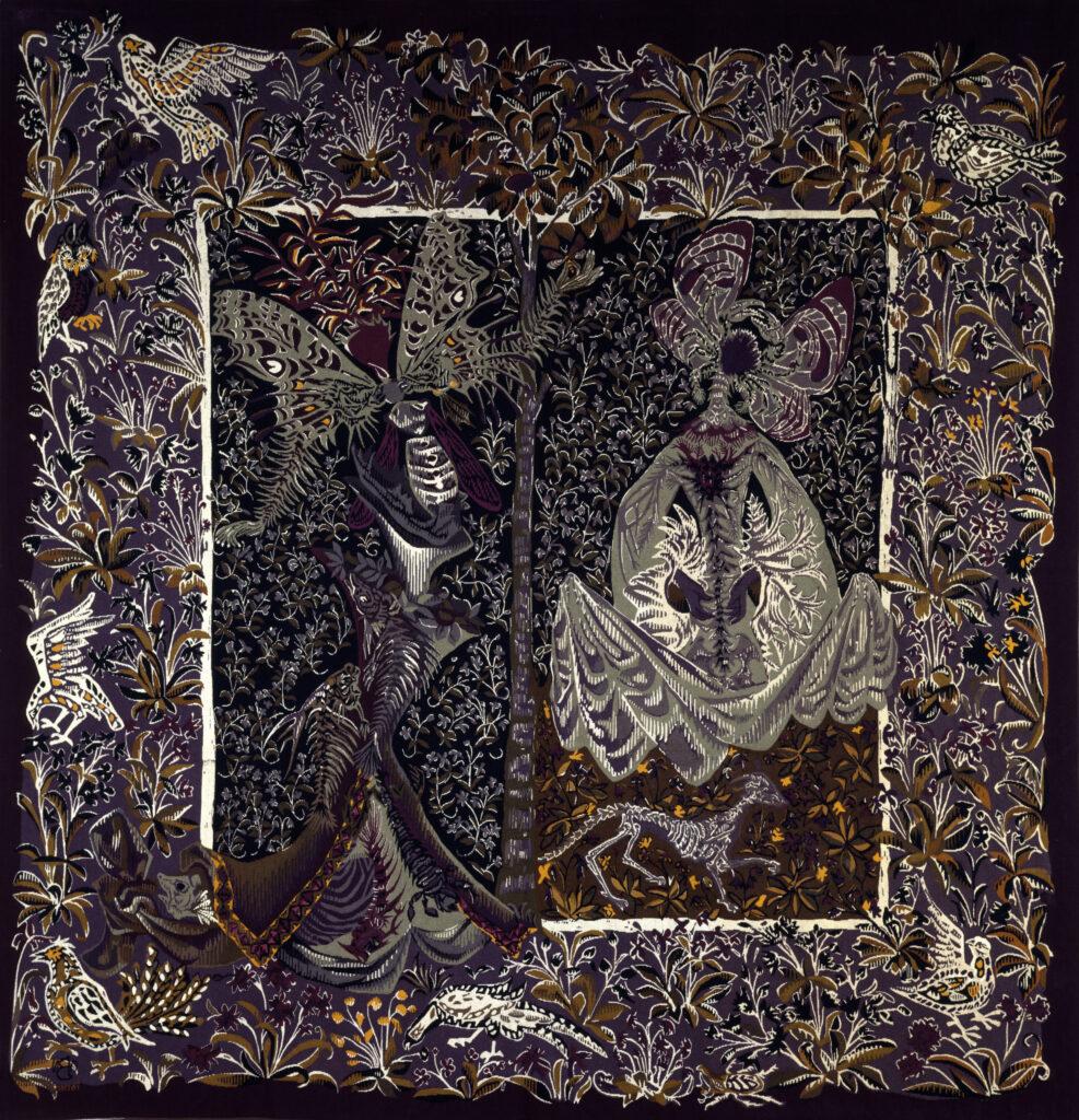 Exposition Tisser la nature, Musées de Lodève, Atelier-musée Jean Lurçat, Musée Dom Robert, Pierre Pothier, Tapisserie noire