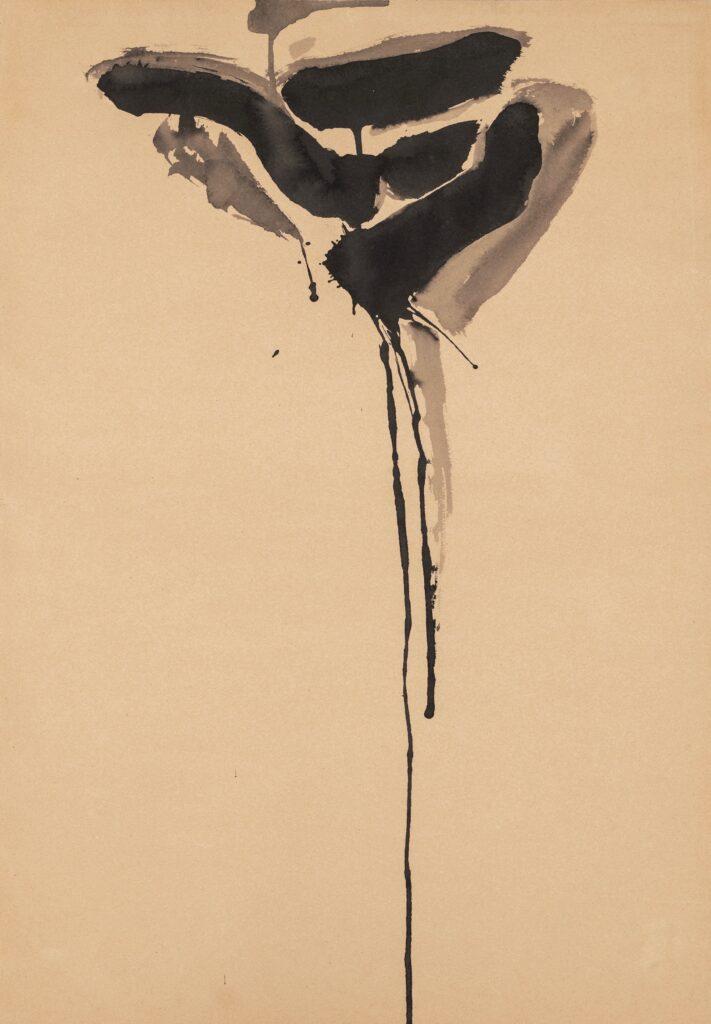 Sam Francis, Towards Black, 1950-53