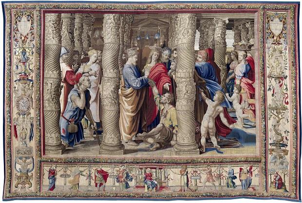 La Guérison du boiteux, milieu du XVIe s., tapisserie