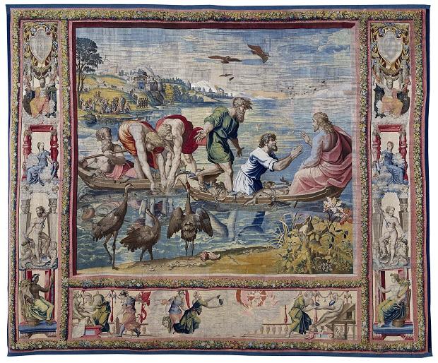 La pêche miraculeuse, milieu du XVIe s., tapisserie