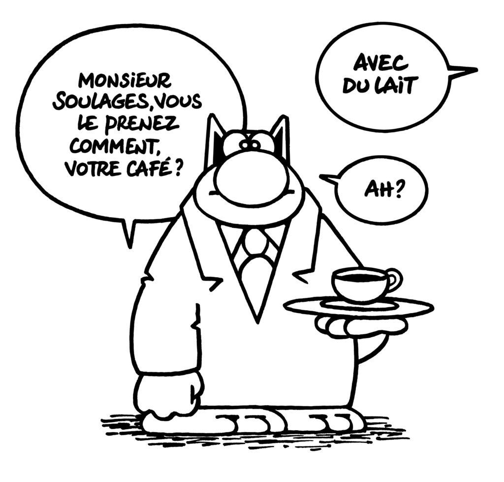 Philippe Geluck, Soulages café